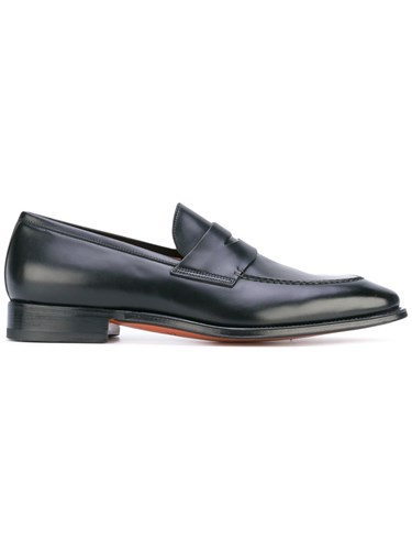 Santoni Classic Loafers Men Calf Leather Leather 7 Black AT7SC30N