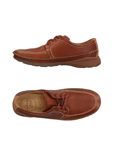 Clarks Lace Up Shoes Brown TF4cqB