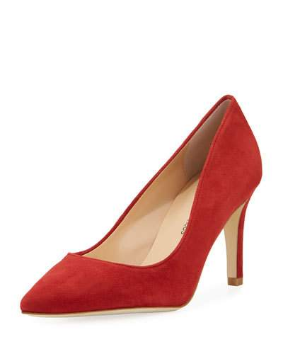 Cissy Neiman Red Pump Suede Marcus Pointed TxqpFx