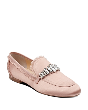 Light Satin Embellished Trump Weven Pink Women's Ivanka Loafers U6qaTUw