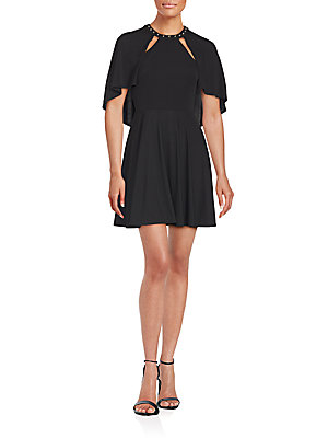 ABS by Allen Schwartz Studded Roundneck Dress Black os0fOdT