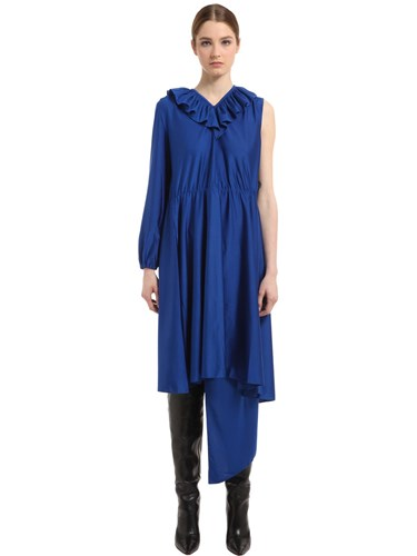 Dress Ruffled Jersey Crepe One Vetements Sleeve gznP1z