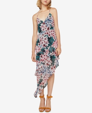 Tiered Asymmetrical Multi Print Green Floral Dress Maxi BCBGeneration Fqxv0Ewtx