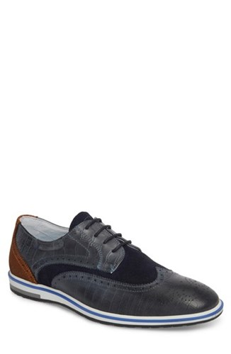 Cycleur De Luxe Pulsano Textured Wingtip Navy Carmel Leather PJrvz
