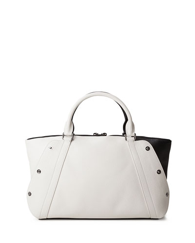 Black White Bicolor Small Bag Leather Aimee Akris Satchel vxRzwqYWO