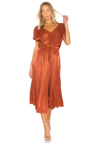 Free People Love And Feeling Midi Dress Metallic Bronze BDaSSahS