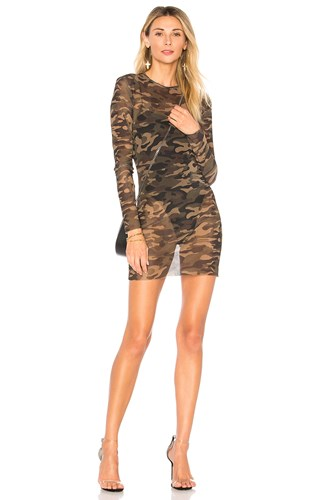 Ciara Camo Olive By The Way Mesh Dress zwRzCvBq
