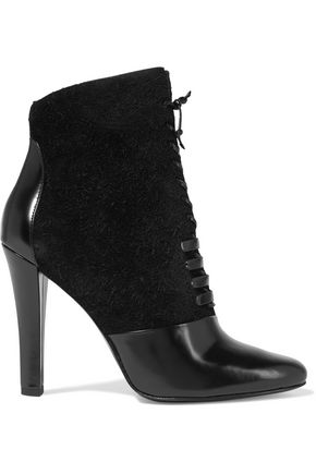 3.1 Phillip Lim Harleth Leather And Lace Ankle Boots Black DXsai