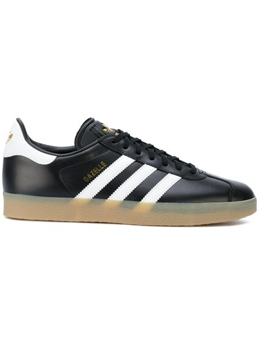 adidas Gazelle Sneakers Cotton Leather Polyamide Rubber Black n6lfwHB