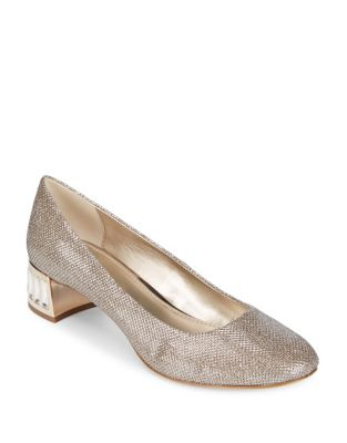 Metallic Gold Klein Fabric Light Anne Haedyn Heels qEpnwU