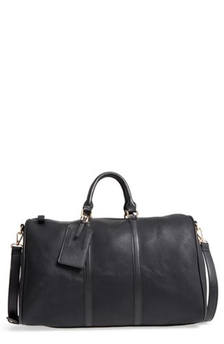 Sole Society 'Cassidy' Faux Leather Duffel Bag Black New Black xt6CxDS730