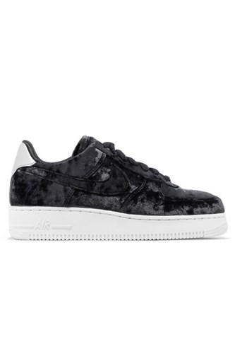 Nike Air Force 1 Metallic Faux Leather Trimmed Crushed Velvet Sneakers Anthracite XAL470Nreg
