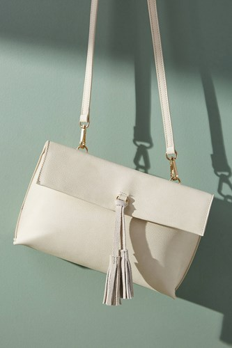 Anthropologie Dreia Envelope Crossbody Ivory iYQMEu77