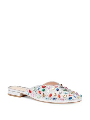 Loeffler Randall Quin Leather Mules Multi x7Hnxr