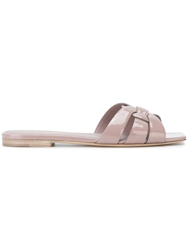 Saint Laurent Nu Pieds 05 Strappy Sandals Calf Leather Leather Patent Leather Pink Purple 6mP5GcCTYp