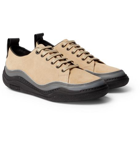 And Sand Suede Lanvin Sneakers Leather fPzxxqSF