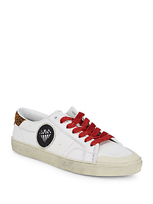 Laurent Off Leather Sneakers Patched White Saint TqxY4dda