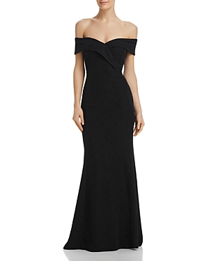 Eliza Shimmering Shoulder The Off J Gown Black vqOvxRUF