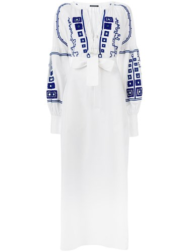 Wandering Dress Long Wandering White Embroidered Long 7BBYqHwS