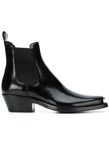 Klein Square Black Boots Toe Calvin 205W39nyc Ankle EA1S6dqAp