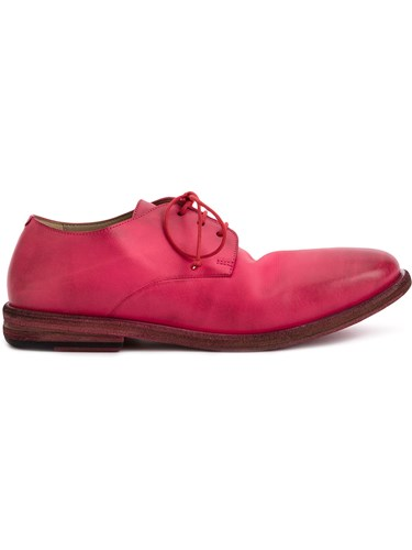 Marsèll Distressed Derby Shoes Pink And Purple IuMft0