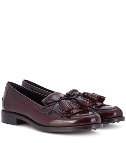 Leather Tod's Leather Loafers Tod's Tod's Glossed Red Glossed Red Loafers Glossed wqx8fCB6O