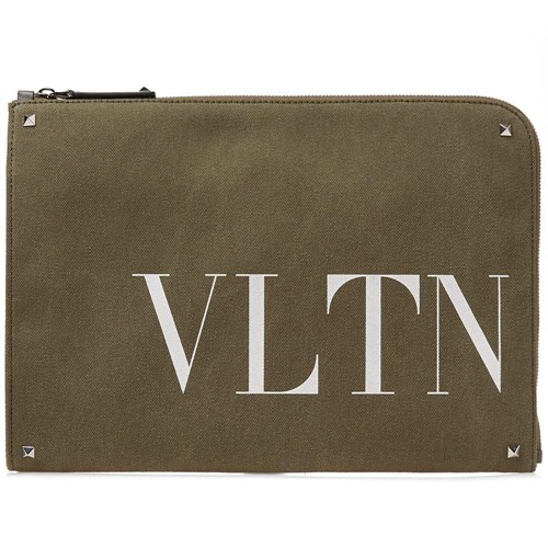 Valentino Vltn Army Document Case Green JjTBIMR