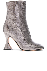 Sies Marjan Emma Laminated Leather Crinkle Boot In Gunmetal bPjdXeb