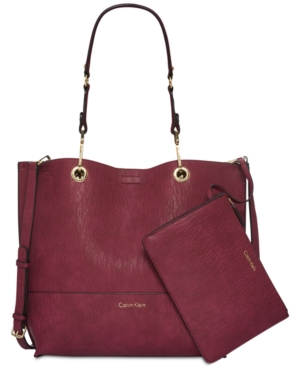 Tote Pouch Berry Calvin Novelty Klein Reversible With Sonoma Black wRgqIvSqZ
