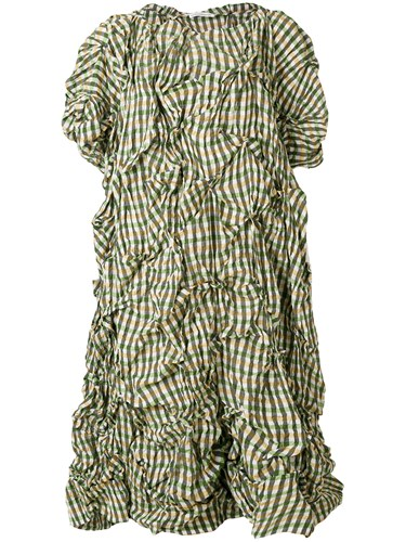 Stefano Mortari Crumpled Checked Dress Multicolour ahGgLDi