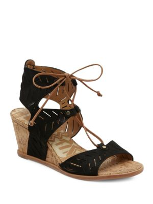 Dolce Vita Langly Leather Wedge Sandals Taupe PwmQwJXu7