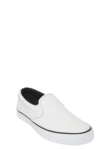 Kenzo Tiger Leather Slip On Sneakers A47pkv1inr