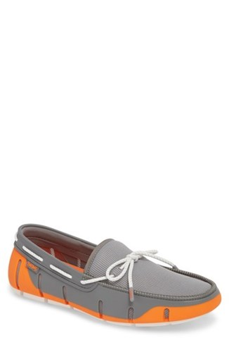 Swims Stride Lace Loafer Orange Grey White Fleck Fabric j9foNDngzJ