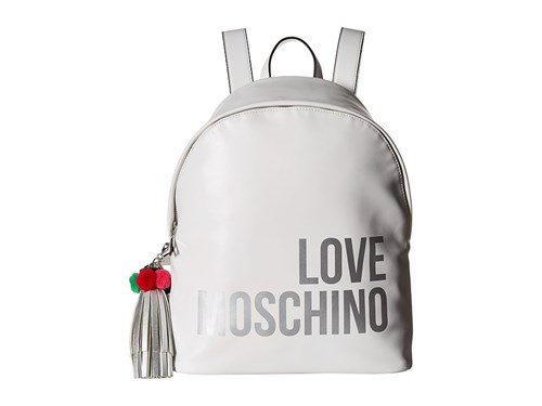 Love Moschino Backpack W Tassel White Backpack Bags qOLKBuS8