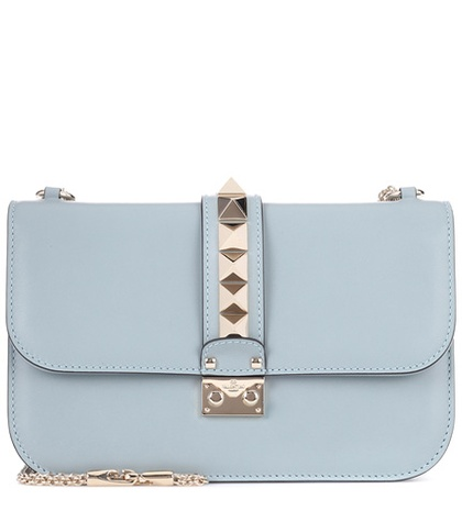 Valentino Garavani Lock Medium Leather Shoulder Bag Blue vAj3GVYe