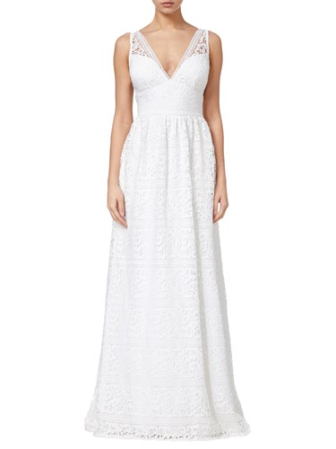 Papell Gown Ivory Lace Adrianna Stripe wYqxPP8d