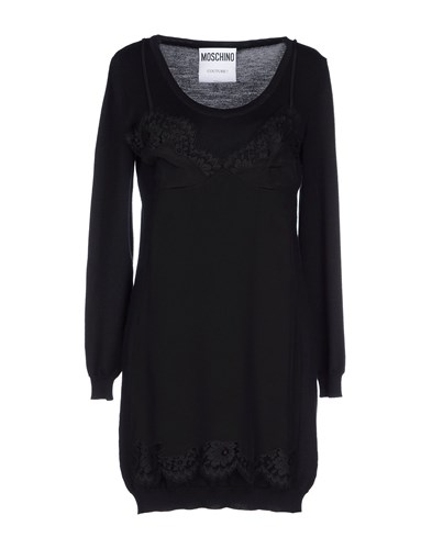 Moschino Short Dresses Black QmK79yl