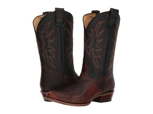 Roper Leather Loaded Brown Cowboy Boots Black R AwAx6tCOqr