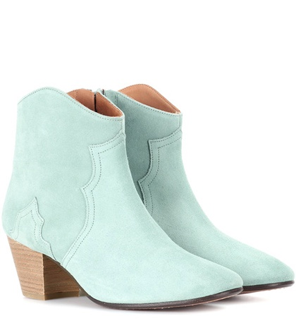 Isabel Marant Dicker Suede Ankle Boots Green o43zv