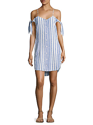 Shoulder Dress Cold Dahl Blue Bella Striped Sqn0gxSf