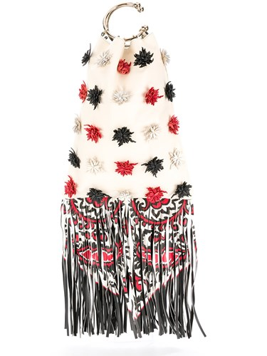 RED Valentino Fringed Pom Pom Tote Nude And Neutrals FKVyx