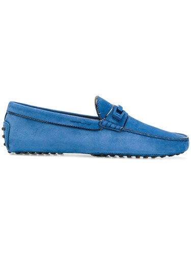 Tod's Flat Design Driving Loafers Blue 6R7DMykG