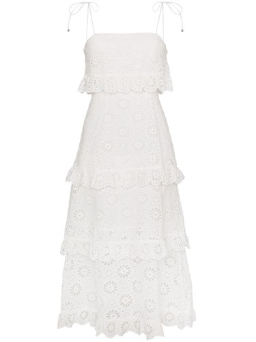 Zimmermann Lunmino Daisy Dress Cotton White 2EHE0