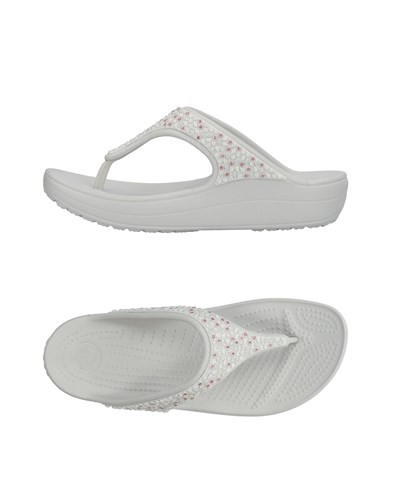 Sandals Toe Light Strap Crocs Grey q1OApwE