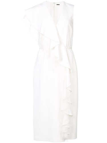 ADAM by Adam Lippes Ruffled Midi Wrap Dress White zHieKS