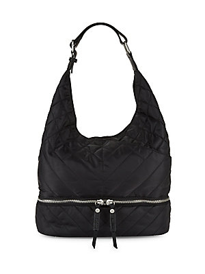 Sam Edelman Quilted Hobo Bag Black 4WLE7X