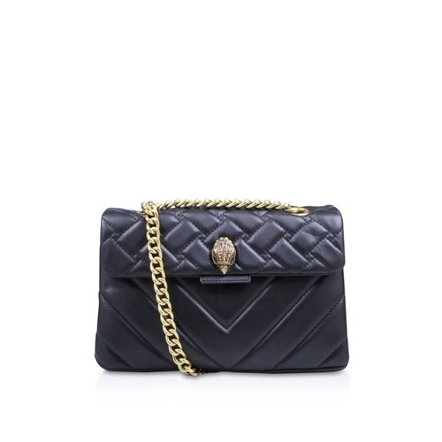 Kurt Geiger London Leather Kensington X Body Bag Black 1e0dz
