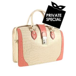 Embossed Doctor Ivory a p L Leather Bag a And Croco Pink B7F1cUwcq