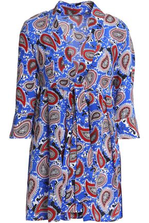 Crepe Or De Silk Top Bar Blue Dodo Chine Printed vF5IFq