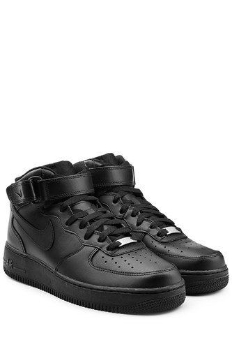 Nike Air Force 1 Mid 07 Leather Sneakers Black cMZhtZLwkl